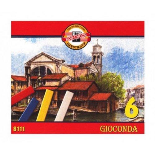 Křídy tvrdé školní KOH-I-NOOR GIOCONDA 6 ks