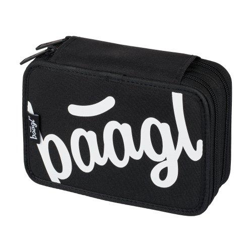 Školní penál dvoupatrový Logo BAAGL černý