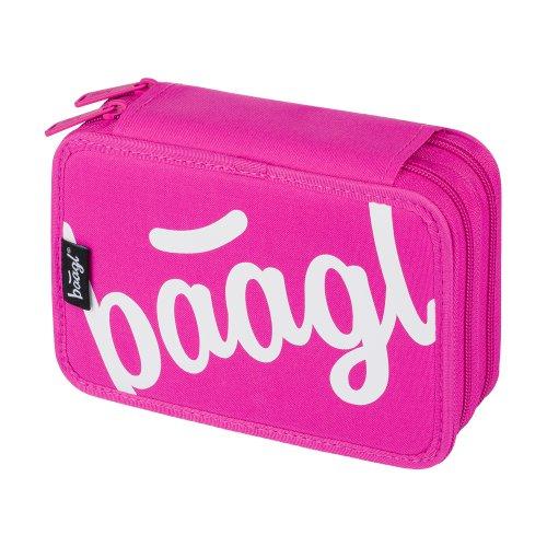 Školní penál dvoupatrový Logo BAAGL růžový