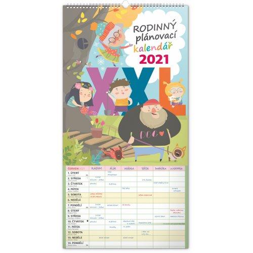 Nástěnný kalendář Rodinný plánovací XXL 2021, 33 × 64 cm