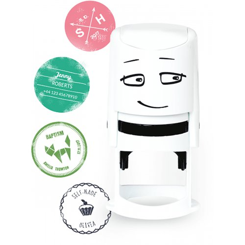 Razítkovací NIO SET - razítko + polštářek šedé barvy + kód na vlastní online definování otisku