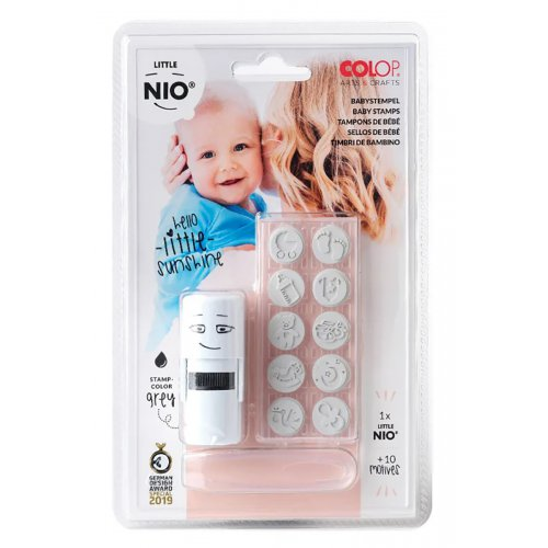 Sada kreativních razítek Little NIO BABY - 10 ks motivů