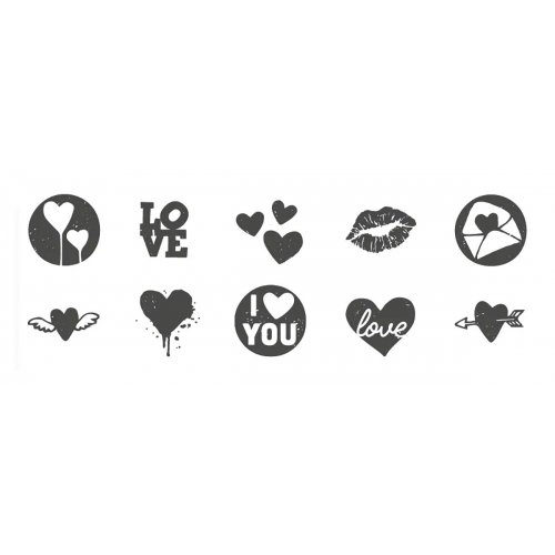 Sada kreativních razítek Little NIO LOVE - 10 ks motivů - Sada_razitek_love_mot.jpg