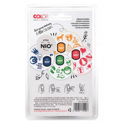Barevné polštářky pro razítka Little NIO KLASIK 4 barvy - Classic_polstarky_zad.jpg