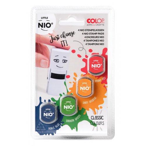 Barevné polštářky pro razítka Little NIO KLASIK 4 barvy