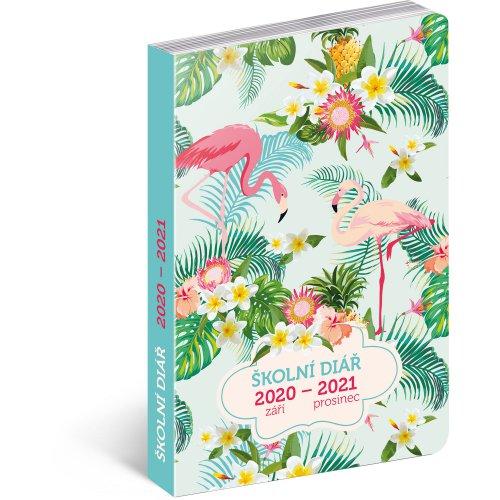 Školní diář Plameňáci (září 2020 – prosinec 2021), 9,8 × 14,5 cm