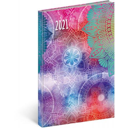 Týdenní diář Cambio Fun 2021 Mandala 15 × 21 cm