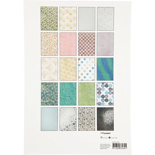 Papír bavlněný ruční, BLOK A4, 210 x 297 mm, 110 g, 20 motivů ZAHRADA - 21636_4.jpg