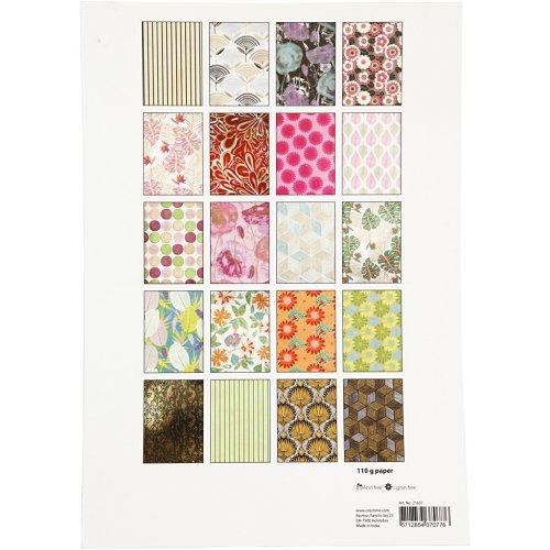 Papír bavlněný ruční, BLOK A4, 210 x 297 mm, 110 g, 20 motivů DŽUNGLE - 21637_4.jpg