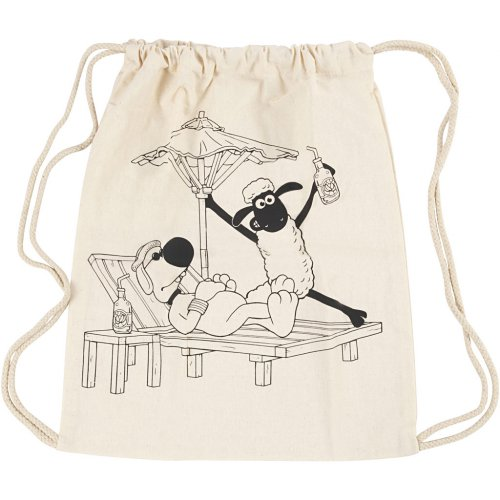 Malá taška se šnůrkou motiv OVEČKA SHAUN textil, 37 x  41 cm - 499654_5.jpg