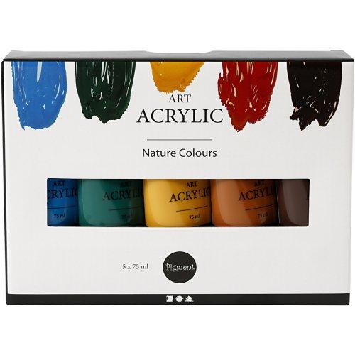 Sada akrylových barev PIGMENT ART NATURAL 75 ml 5 barev - CC35136_2.jpg