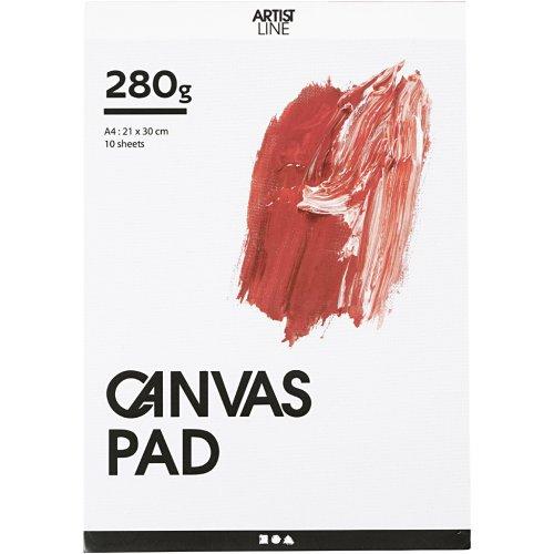 Malířské plátno v bloku A4, 10 listů, 280 g