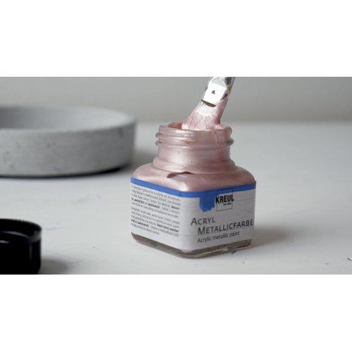 Akrylová barva metalická KREUL 20 ml RŮŽOVOZLATÁ - KREUL_AcrylMetallicfarbe_Rosegold.jpg