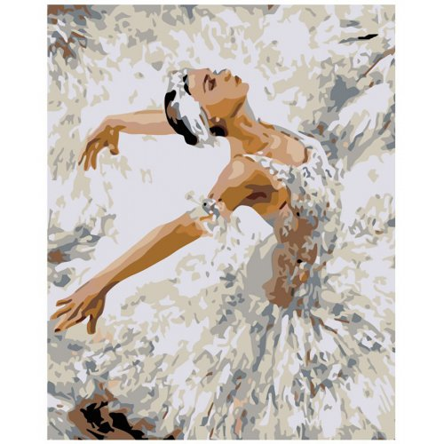 Malování podle čísel - BALETKA V ZÁKLONU na rámu 40 x 50 cm