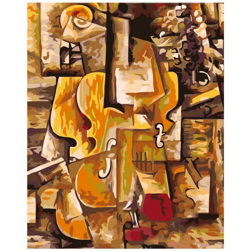 Malování podle čísel - HOUSLE A HROZNY - PICASSO na rámu 40 x 50 cm