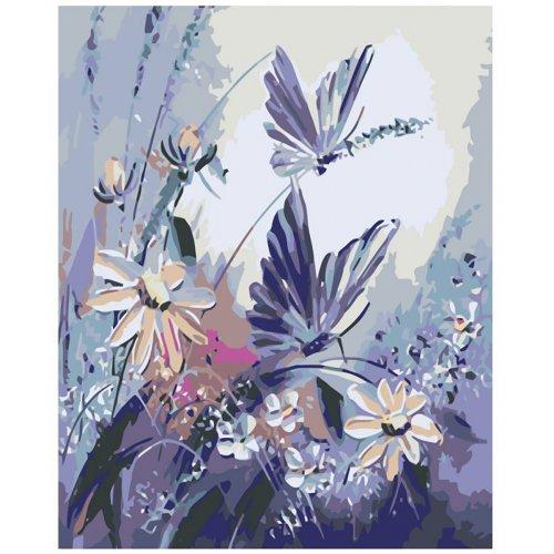 Malování podle čísel - MOTÝLI na rámu 40 x 50 cm