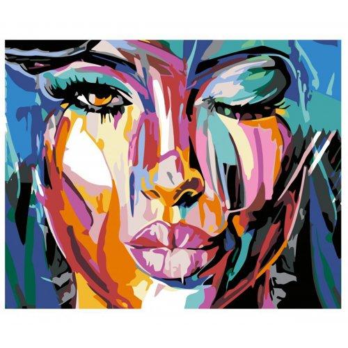 Malování podle čísel - POMALOVANÁ KRÁSKA na rámu 40 x 50 cm