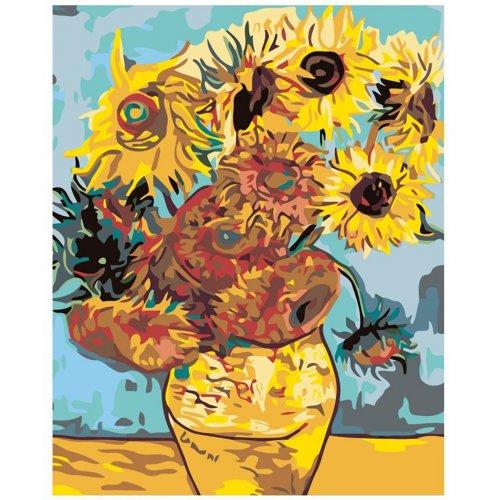 Malování podle čísel - SLUNEČNICE - VAN GOGH na rámu 40 x 50 cm