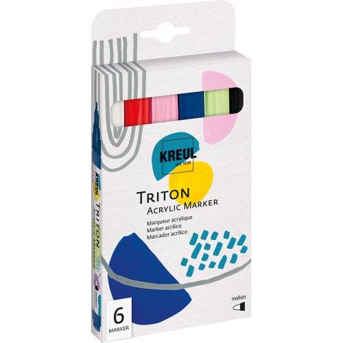 Sada Akrylový fix TRITON KREUL medium 6 barev