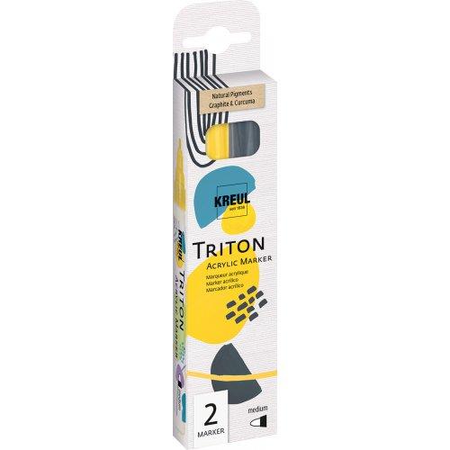 Sada akrylový fix TRITON KREUL medium NATURAL PIGMENT