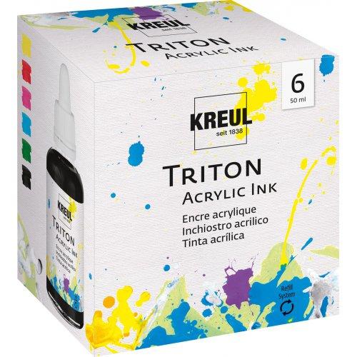Sada akrylový inkoust TRITON KREUL 6 barev