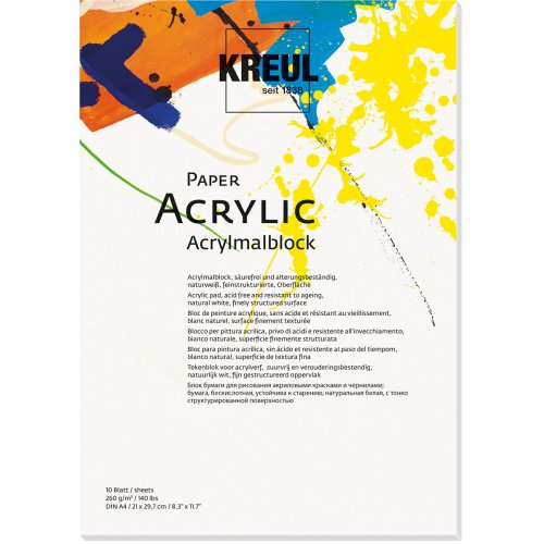 Papír na akryl KREUL 260 g/m2 - DIN A4 - 10 listů