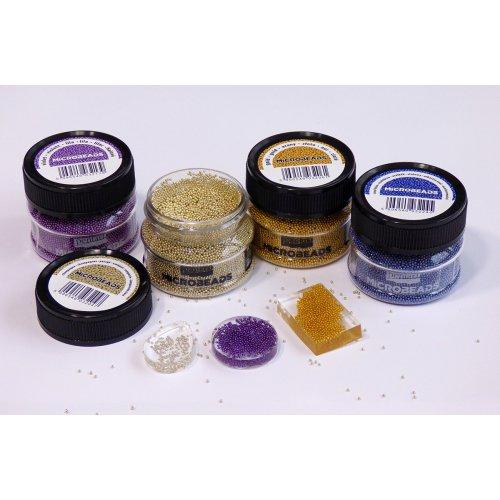 Korálky skleněné MICROBEADS PENTART ŠAMPAŇSKÁ - Microbeads_img1.jpg