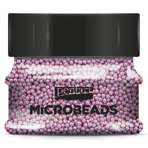 Korálky skleněné MICROBEADS PENTART RŮŽOVÁ
