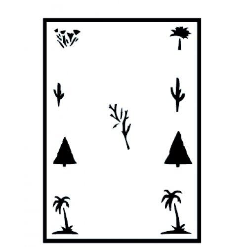 Šablony na airbrush (plast) - Stromy