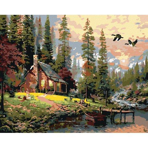 Malování podle čísel - NOVÝ SRUB 50x40 cm plátno na rámu