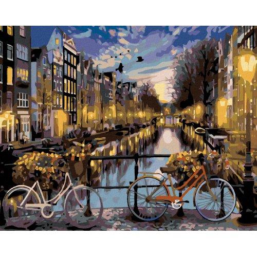 Malování podle čísel - KOLA V AMSTERDAMU 50x40 cm plátno na rámu
