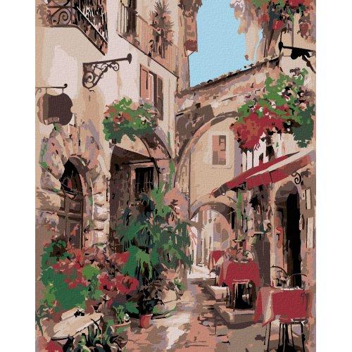 Malování podle čísel - ITALSKÁ ULIČKA 40x50 cm plátno na rám