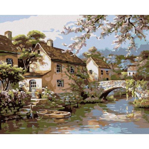 Malování podle čísel - MLÝN 50x40 cm plátno na rámu