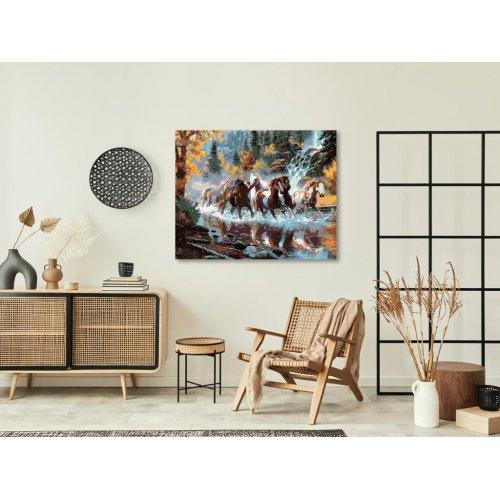Malování podle čísel - STÁDO STRAKÁČŮ 50x40 cm plátno na rámu - 2642231_2.png
