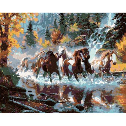 Malování podle čísel - STÁDO STRAKÁČŮ 50x40 cm plátno na rámu