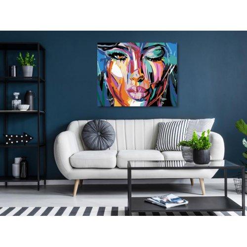 Malování podle čísel - POMALOVANÁ KRÁSKA 50x40 cm plátno na rámu - 467211.png