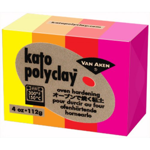 Kato Polyclay - Sada 4 barev - Warm