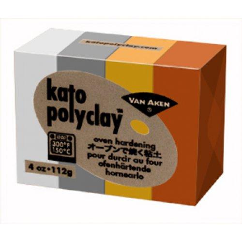 Kato Polyclay - Sada 4 barev - Metallic
