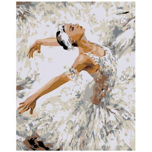 Malování podle čísel - BALETKA V ZÁKLONU 80x100 cm plátno na rámu