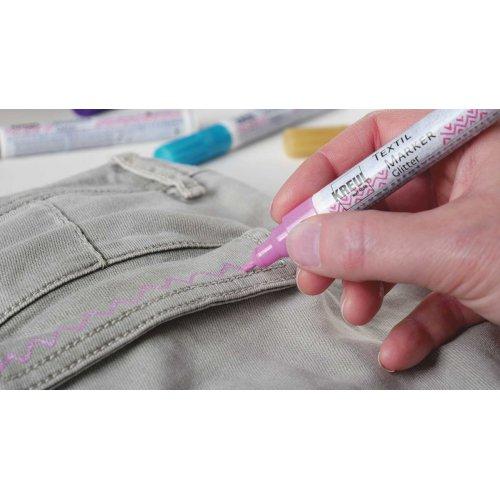 Sada Fix na textil JAVANA KREUL GLITTER medium 5 ks - 926_KREUL_TextilMarkerGlitter_1_RGB.jpg
