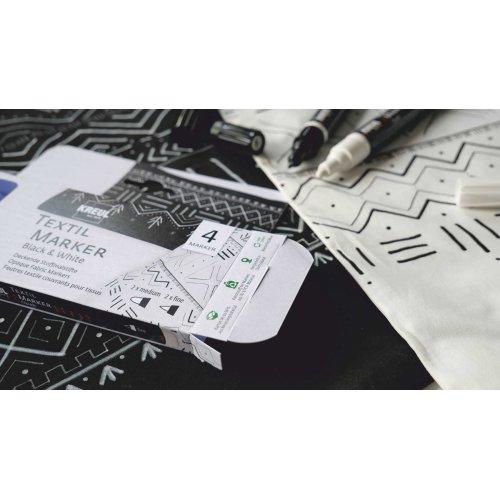 Sada Fix na textil JAVANA KREUL OPAK ČERNÁ + BÍLÁ 4 ks - 92751_KREUL_TextilMarkerOpak_4erSet_BlackAndWhite_3_RGB.jpg
