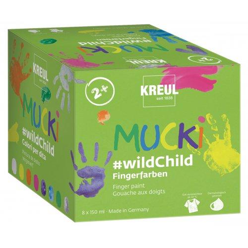 Sada Premium wildChild prstové barvy MUCKI 8 barev