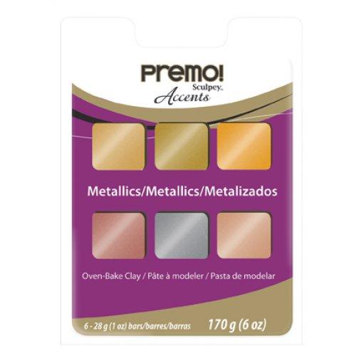 PREMO Accents Multipack 6x 28 g / Metalická sada