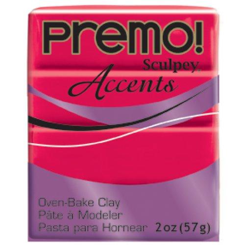 PREMO Accents! Průhledná červená