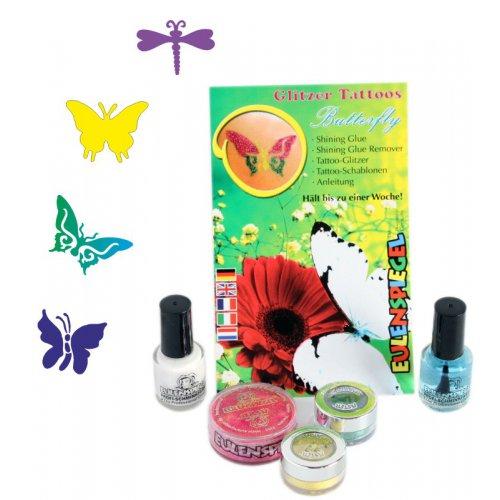Tetovací třpytivé sady - Sada motýli