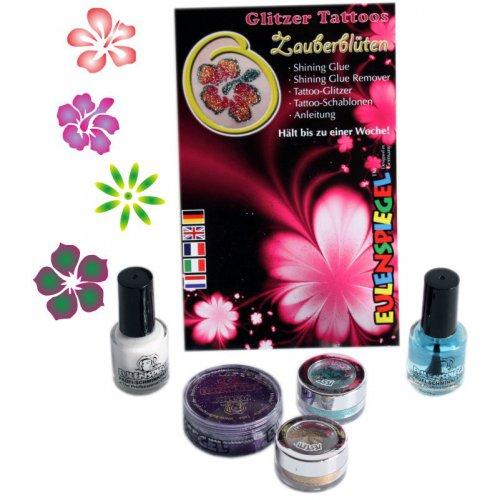 Tetovací třpytivé sady - Sada květiny