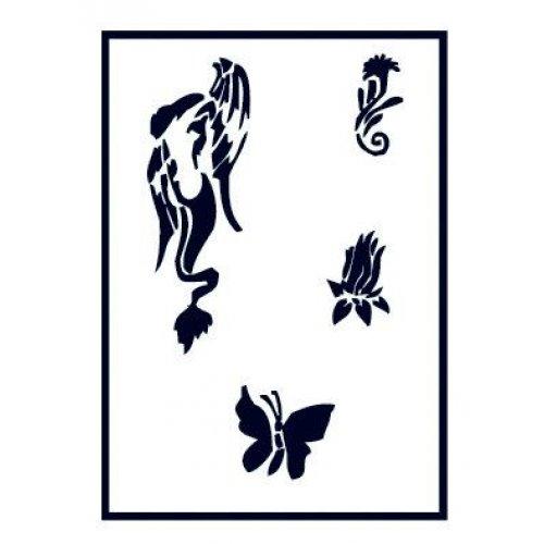 Šablony na airbrush (plast) - Siren