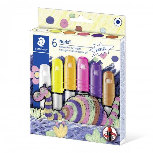 "Voskovky ""Noris Club"", 6 pastelových barev, gelové, STAEDTLER"