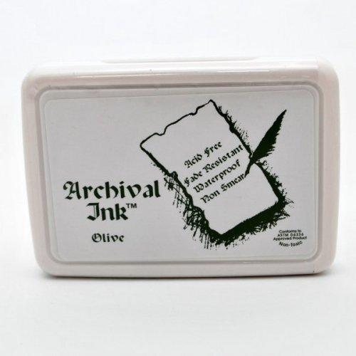 Archival inkoustová poduška - Olivová
