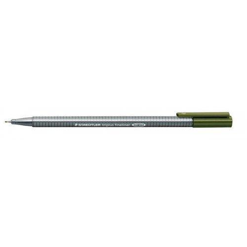 """Liner """"Triplus 334"""", olivově zelená, 0,3mm, STAEDTLER"""